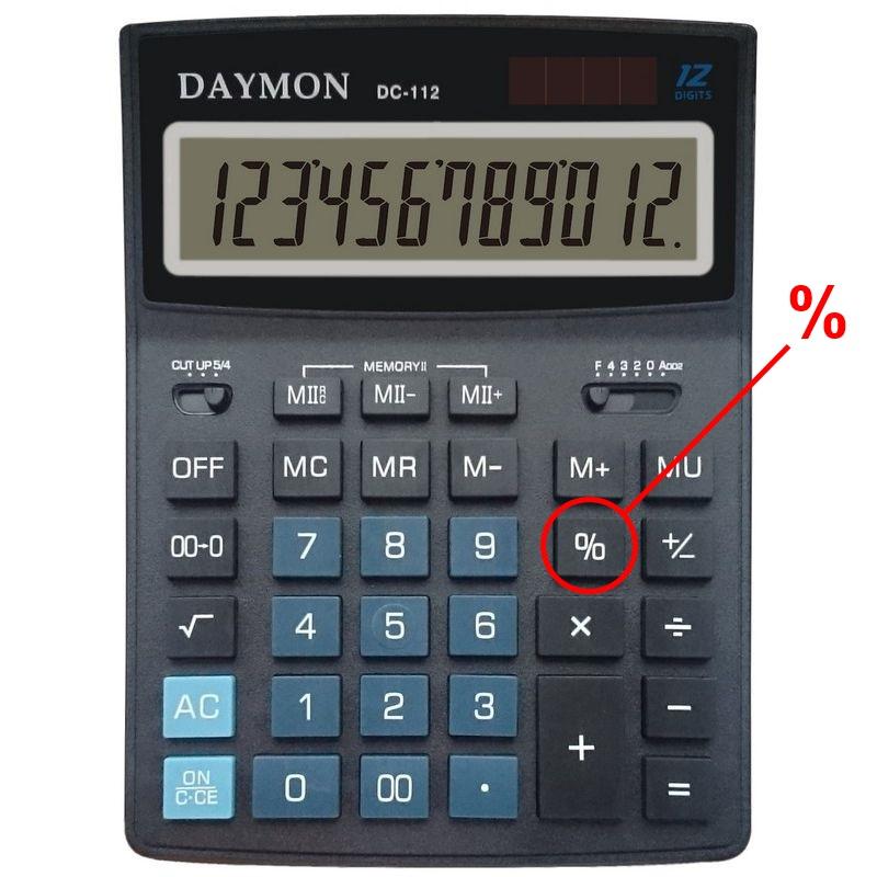 Калькулятор процентов - посчитать процент от числа